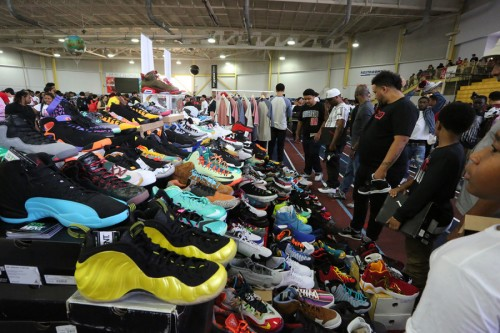 Typical scene at a sneaker convention